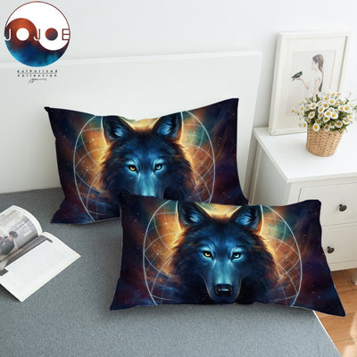 Dream Catcher by JoJoesArt Pillowcase Moon Eclipse Pillow Case Wolf Galaxy Printed Bedding Home Textiles Pillow Covers 2pcs
