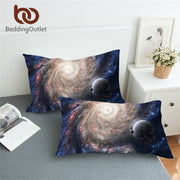 BeddingOutlet 3D Printed Cozy Pillow Cases Galaxy Universe Outer Space Themed Pillowcases Soft No Fade Pillow Cover 1 Pcs 2 Size