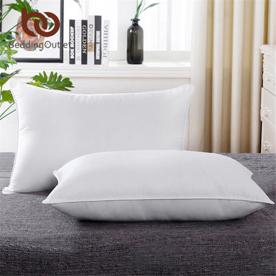BeddingOutlet White Down Alternative Pillow 5 Star Hotel Down Pillow Microfiber Fabric Bedding Neck Health Washable Soft Pillow