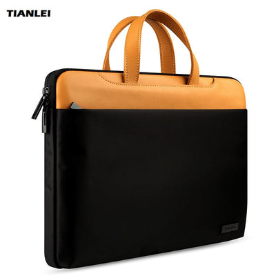 TIANLEI Genuine Leather Laptop Bag For Xiaomi Lenovo Notebook Laptop Messenger Bag Case For Macbook Air Pro 13