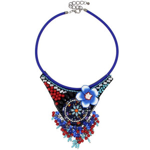 UKEN Boho Hand Made Accessories Fashion Statement Collares Jewelry Rope Chain Multicolor Candy Beads Flower Chokers Necklaces