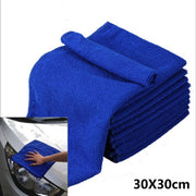 5Pcs Ultra Soft Microfiber Towel Car Washing Cloth for Car Polish Wax Car Care Styling Cleaning Microfibre 30x30cm