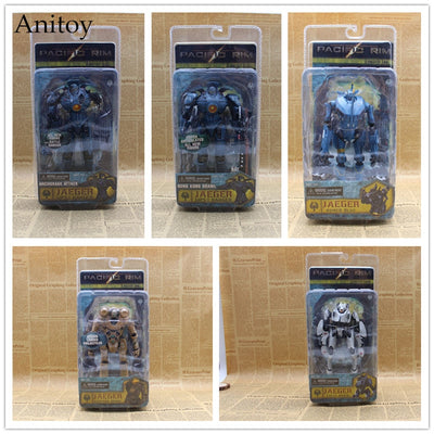 NECA Pacific Rim Gipsy Danger Jaeger Anchorage Attack Tacit Ronin PVC Action Figure Collectible Model Toy 15-18cm KT3638