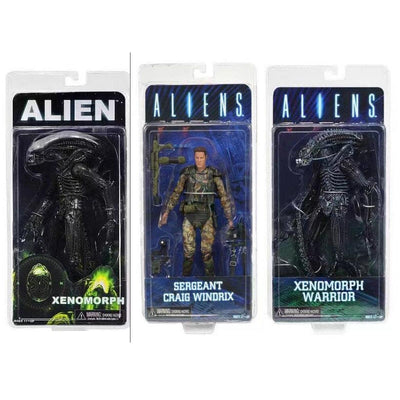NECA ALIEN Xenomorph Warrior Sergeant Craig Windrix PVC Action Figure Collectible Model Toy 19cm