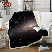 BeddingOutlet Amazing Galaxy Sherpa Blanket Universe Print Plush Throw Beds Blanket Sofa Cover Thin Quilt mantas para cama