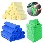 10pcs/set Auto Car Microfibre Cleaning Towel Soft Wash Cloths Duster For Home Household Cleaning Towel