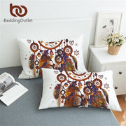 BeddingOutlet Dream Catcher Pillow Case Brown Boho Pillowcase Watercolor Bohemia Envelope Pillow Covers Home 2pcs