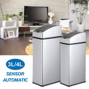 3L/4L universal Smart waste bin  touchless sensor automatic dustbin mini  kitchen Stainless Steel trash Table waste bin