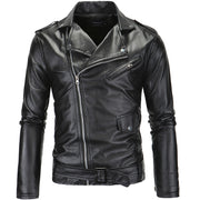 Danjeaner 2018 Men Leather Jackets New Arrive Motorcycle PU Jacket  Plus Size Turn-down Collar Slim Windbreaker Bomber Jacket