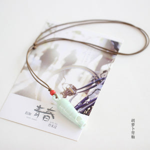 Retro style Whistle  Hand made DIY Ceramic fashion Necklaces for women  Fashion jewelry Hand made #5023