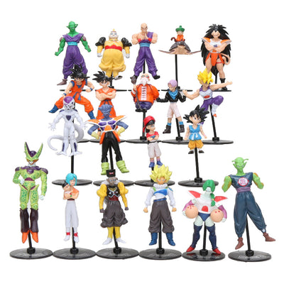 10pcs/set Dragon Ball Z GT Action Figures Crazy Party 10CM Cell/Freeza/Goku PVC Dragonball Figures Toy