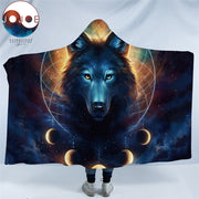 Dream Catcher by JoJoesArt Hooded Blanket Microfiber for Adults Kids Moon Eclipse Galaxy Wolf Sherpa Fleece Wearable Blanket