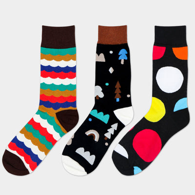 Combed cotton Colorful socks men women cool casual Dress Funny party dress crew Socks  1pair=2pcs ms09