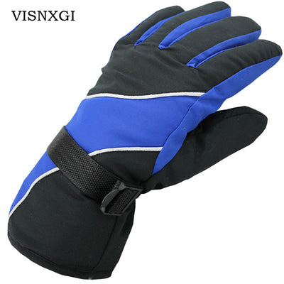 VISNXGI Winter Lycra Waterproof Multicolor Guantes Men Esquiar Gloves Thermal Windproof Keep Warm Esquiar Ciclismo Guantes Moto