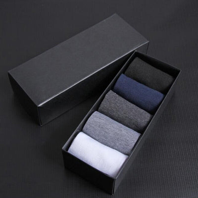 High Quality Casual Men's Business Socks For Men Cotton Brand Crew Autumn Winter Black White Socks meias homens 6 Pairs dropship