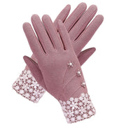 Women Touch Fleece Gloves Outdoor Screen Warm