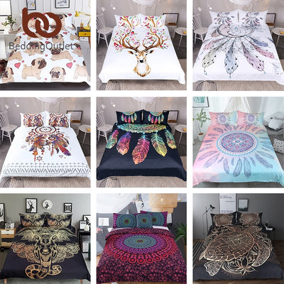 BeddingOutlet Wholesale Bedding Set Queen King Microfiber Duvet Cover Set Hot Sale Bedclothes 10 set a lot Home Textiles
