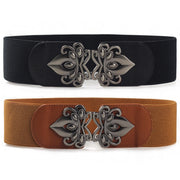 Female Women Ladies Retro All-match Stylish Fashion Solid Color Width Elastic Belts Waist Seal FS0722