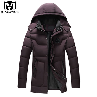 MIACAWOR New -20 Degree Wram Parkas Men Winter Jackets Coats Hooded Casual Man Outwear Windproof Overcoat Jaqueta Masculina J499