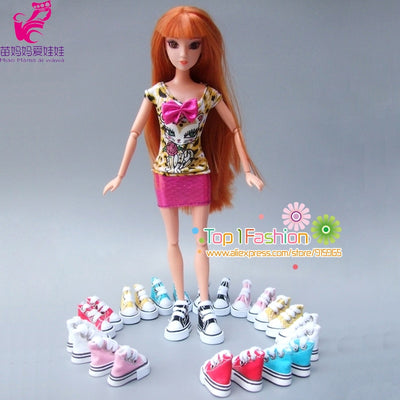 Wholesales 3.5cm*2cm*3cm Doll Shoes for Blythe Licca Jb Doll Mini Shoes for Barbie doll Russian Doll 1/6 bjd Sneakers Boots