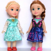 Wholesales 20pcs/lot 16cm Mini Snow Queen Elsa and Anna Princess Doll for baby girls