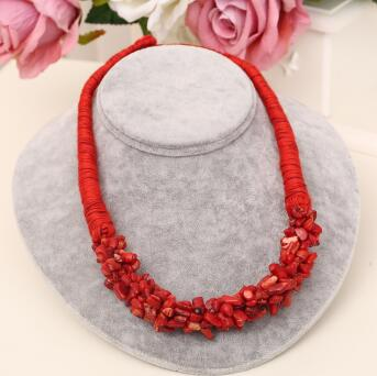MINHIN New Arrival Choker Necklace Black Natural Stone Jewelry Summer Statement Hand-made Rope Necklace Costume Accessory
