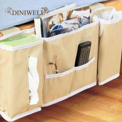 Bedside Organizer Hanging Storage Bag Holder 5 Pockets For Bed Rails Rooms Bunk Beds Apartments Bathrooms Storage Bags