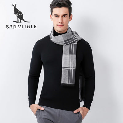 Scarves men's Scarf Fashion Cotton High Quality Wool Designer Casual Clothing Accessories Apparel Winter Warm Cashmere for men
