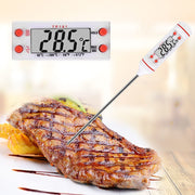 White Digital Meat Thermometer Probe Stainless Steel Kitchen Cooking BBQ Meat Food Thermometer Milk Liquid Probe