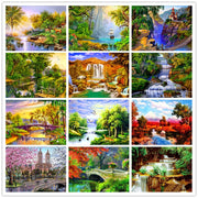 Complete Diamond Painting 5D DIY Diamond Embroidered Landscape Series Patterns Cross Stitch Round Diamond Mosaic