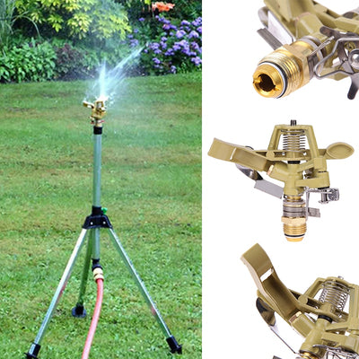 1/2 Inch Copper Rotate Water Sprinkler Spray Nozzle Connector Rocker Arm Garden Irrigation Watering System Garden Tools
