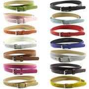 Hot Selling Solid Color Women Faux Leather Thin Skinny Waistband Adjustable Belt  New Arrival