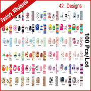 42Designs Smooth Nail Art Beauty Sticker Patch Nail Foils Polish Wraps Decals,100sheets/lot Manicure Nail Decorations Wholesale
