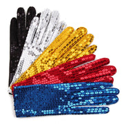 Festival Sparkle Sequin Wrist Gloves for Party Dance Event Kids Unisex  brand new and high quality polyester women gloves #YL5