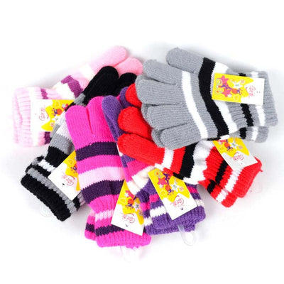 Children Girls Boys Kids Magic Stretchy Mittens Knitted Gloves Winter Warmer