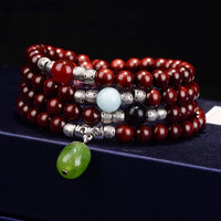 Wholesale Lobular Red Sandalwood Bracelets Full Venus Hand Made 108 Buddha Beads High Density Necklace for Women Men Jewelry