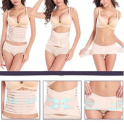 Postpartum Support Set, 3 in 1 Postpartum Recovery Belly Wrap Waist/Pelvis Belt Body Shaper Postnatal Shapewear