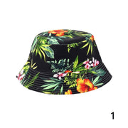 Charm Unisex Men Women Boonie Hunting Fishing Outdoor Cap Floral Bucket Sun Hat Stylishelegance