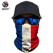 3D National flag Print Scarf Neck Gaiter Bandana Circle Loop Summer Sun Protective Neck Tube Ring Scarves Men Headwear Face Mask