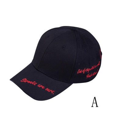 Baseball Stylish Hat Car Adults Golf Embroidery Black Red Snapback