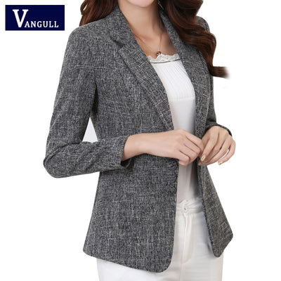 c5aa7529f27e Vangull Plus Size 5XL Elegant Business Lady Jacket New 2018 New Women Full  Sleeve Work Blazer