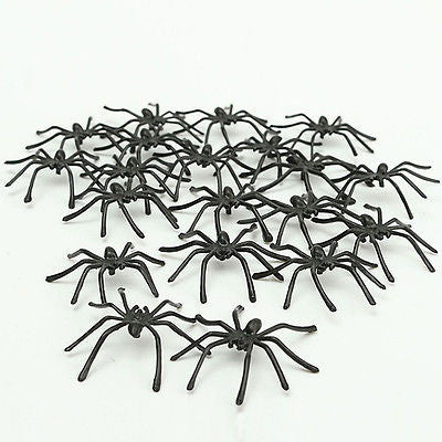10 Pcs Halloween Toy Luminous Spider DIY Decoration