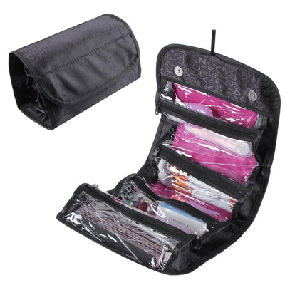 Folding Make Up Cosmetic Bag Case Big Capacity Women Makeup Bag Hanging Toiletries Travel Storage Kits Portable Organizer