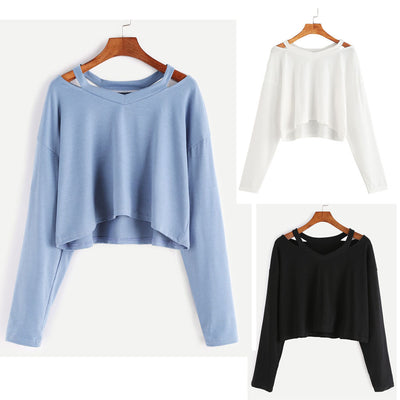 Fashion Womens Long Sleeve Off Shoulder Sweatshirt Causal Tops Blouse