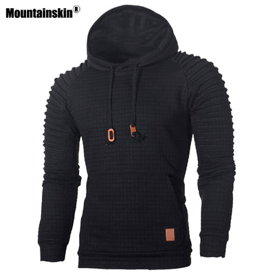 Mountainskin Men's Hoodies Fashion Striped Autumn Warm Long Sleeve Hooded Sweatshirt Slim Male Casual Coat Mens Clothing SA574