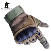 Mege Brand Army Military Tactical Gloves Paintball Airsoft Shooting Combat Anti-Skid Hard Knuckle Full Finger Gloves