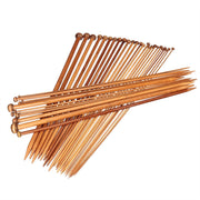 18 Pairs/ 36pcs 36cm Professional Carbonized Bamboo Single Pointed Needles Crochet Knitting Needles (2.0mm-10mm)