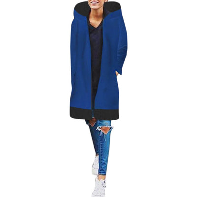 Women Casual Long Sleeve Hooded Coat Jacket Windbreaker Outwear Top