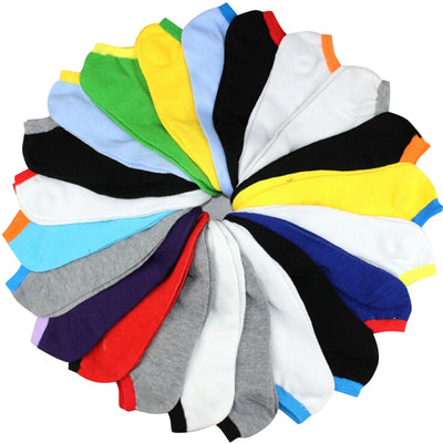 10Pairs/Lot Spring Summer Men Fashion Colorful Ankle Socks Male Boat Sock EUR39-43/10 Colors Mixed