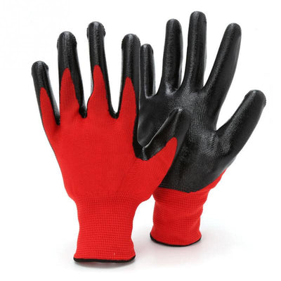 1 Pair Nitrile Coated Work Gloves Nylon Safety Labor Factory Home Garden Repair Gloves